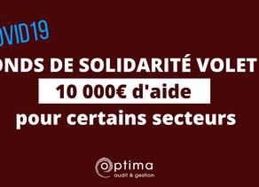Élargissement du fonds de solidarité volet 2 : une aide de 2000€ à 10 000€ pour tous