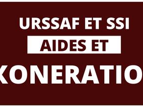 URSSAF ET SSI : AIDES ET EXONERATIONS