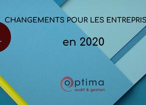 4 NOUVEAUTÉS CONCERNANT LES ENTREPRISES EN 2020