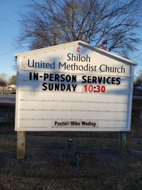 sign church