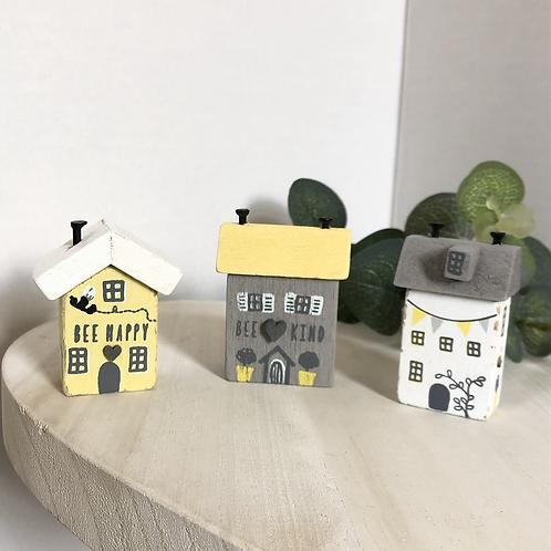 Set of 3 Mini Bee Houses