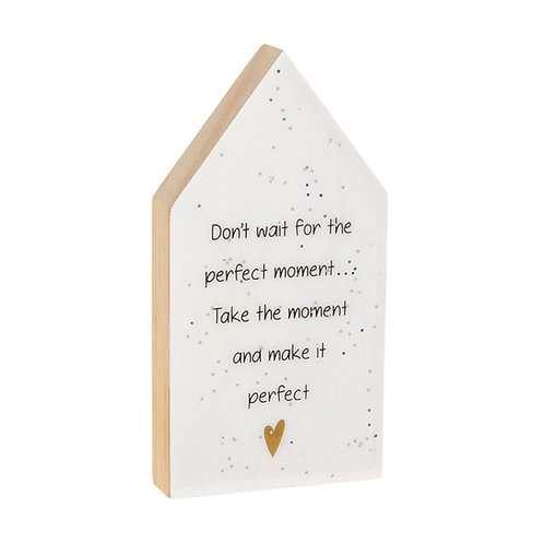 Glitter Words House Plaque - Moment