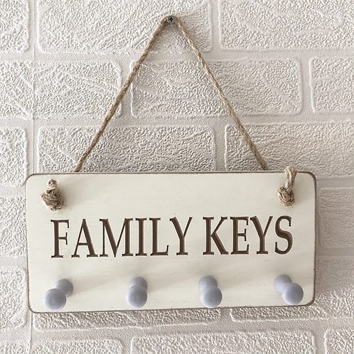 Family Carved Keys Wall Plaque