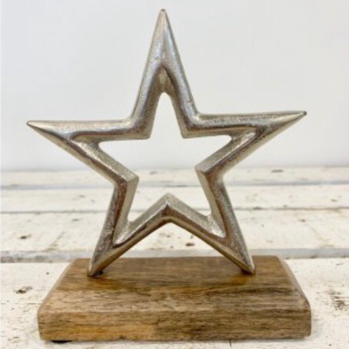Silver Star Large Ornament