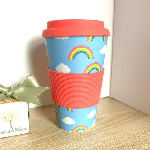 Rainbow Bmboo Travel Mug