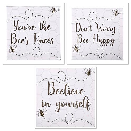 Set of 3 Queen Bee Canvases