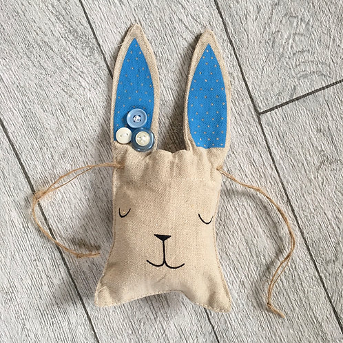 Easter Bunny Blue FabricTreat Bag