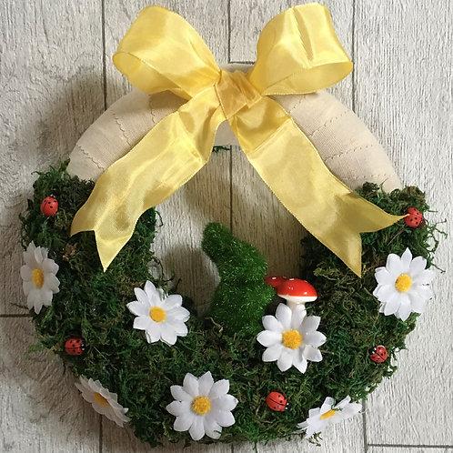 Bespoke Easter Bunny and Daisy Moss Wreath