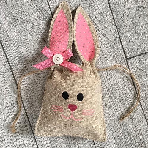 Easter Bunny Pink FabricTreat Bag