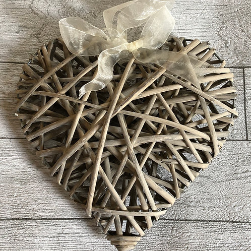 Wollow Hanging Wooden Heart