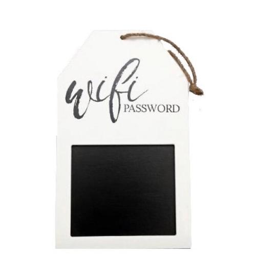 Wooden Hanging Wi-fi Blackboard Sign