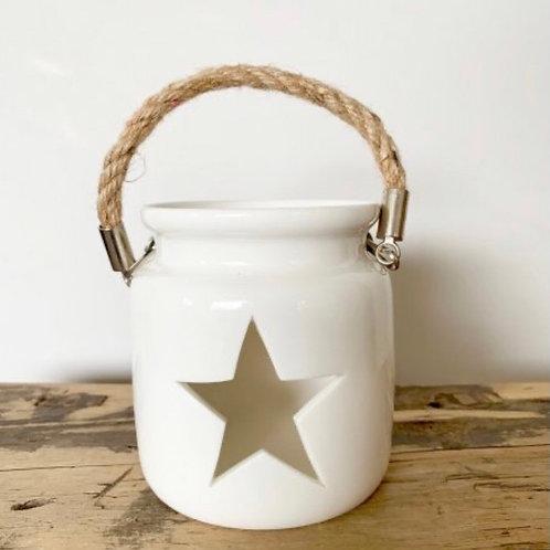 Large White Star Lantern