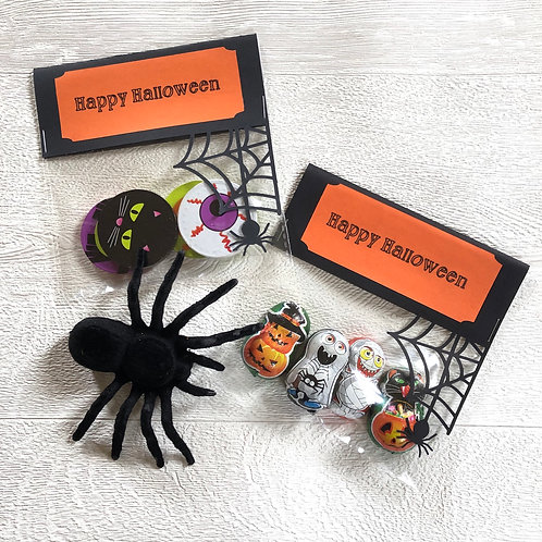 Halloween Chocolate Treat Bags X 6