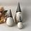 Thumbnail: Set of 3 Round Beige & Cream Ceramic Santa's