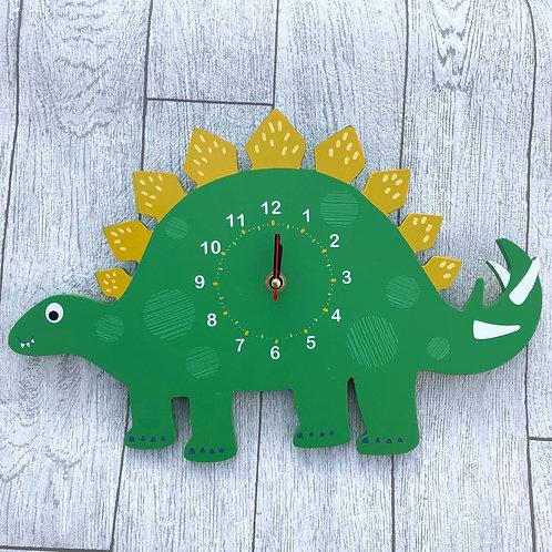 Wooden Dinosaur Wall Clock