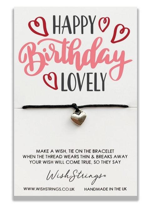 Wishstrings Happy Birthday Lovely Bracelet & Free Birthday Card