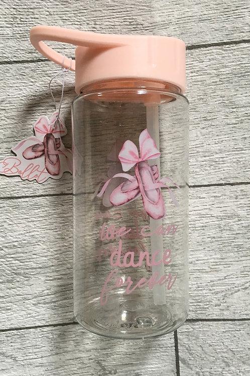 Children's Ballerina Water Bottle with Straw