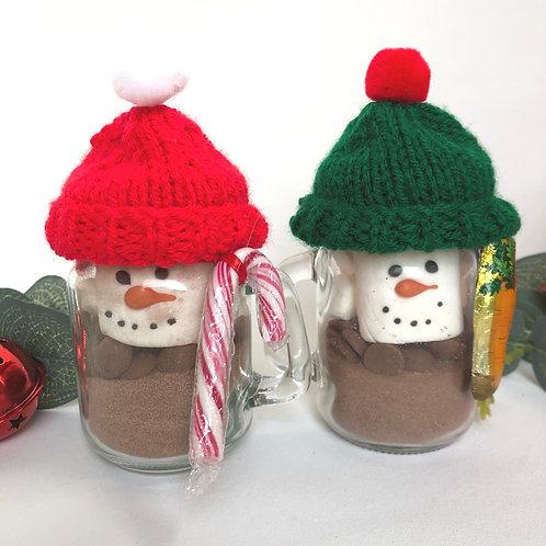 Woolly Hat Snowman Hot Chocolate Mini Jars