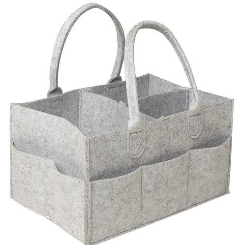 Grey Felt Storage Caddy