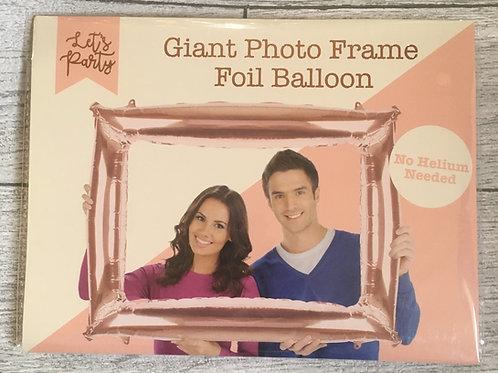Giant Rose Gold Photo Frame No Helium Foil Balloon