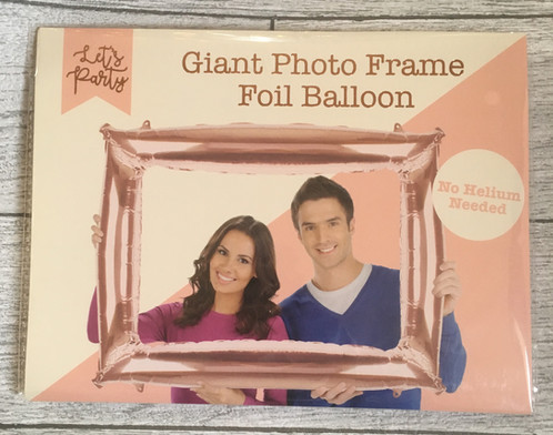 Giant Rose Gold Photo Frame No Helium Foil Balloon