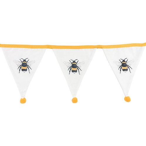 White Single Bee Bunting