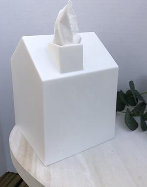 White House Shaped Tissue Box Cover
