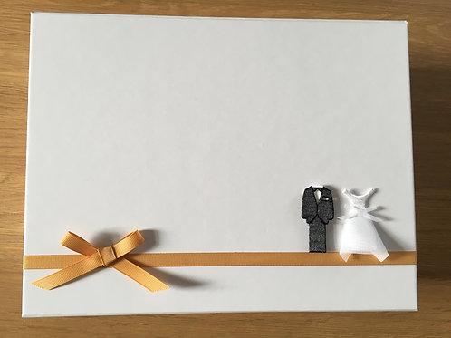 Handmade Wedding Snap- Shut Keepsake Box