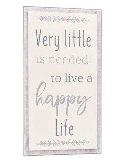 Happy Life Hanging Plaque