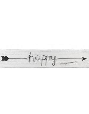 Wooden Happy Sign