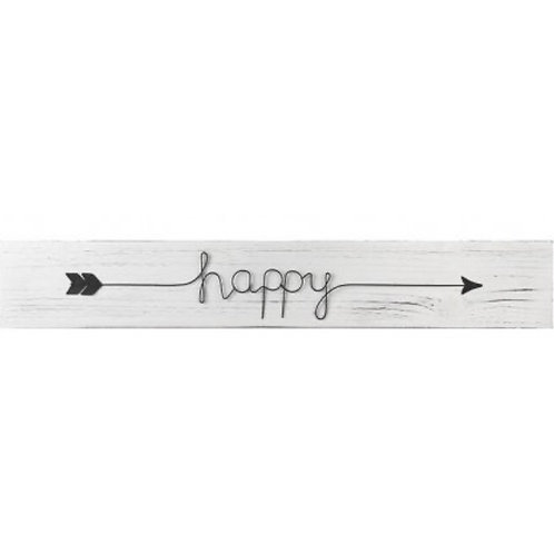 Wooden Happy Sign