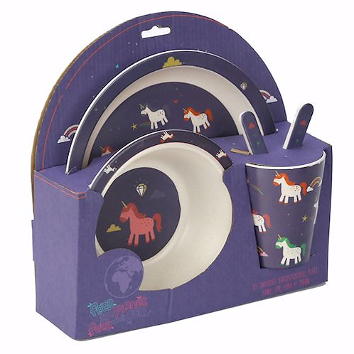Unicorn Plate and Cutlery Set