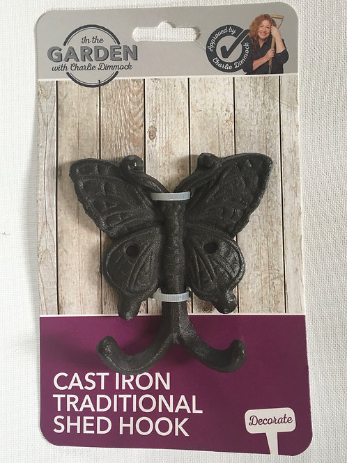 Cast Iron Butterfly Shed Hook