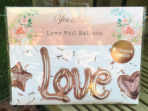 "Large Rose Gold ""LOVE"" Foil Balloon"