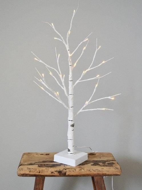 Light Up White Birch Tree LED 60cm