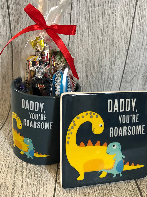 Fathers Day Gift Mug and Coaster Set