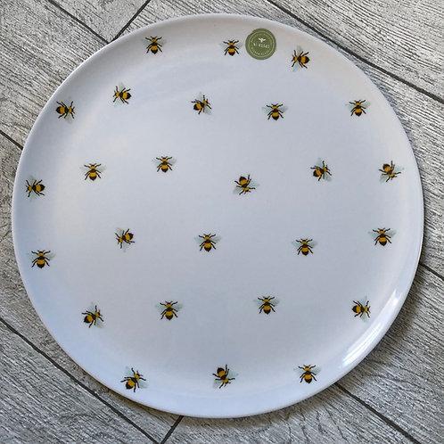 Set of 2 Bee Picnic / Garden Dinner Plate