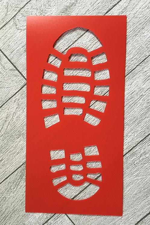 Santa's Footprint Stencil