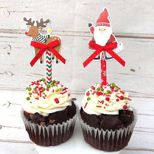 6 Handmade Christmas Cupcake Toppers