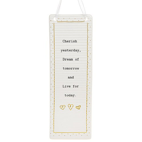 Thoughtful Words Inspirational Ceramic  Plaque -