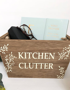 Wooden Kitchen Clutter Crate