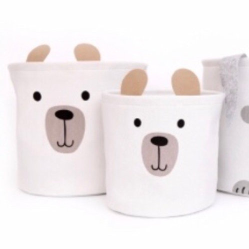 Set of 2 Bear Storage Baskets