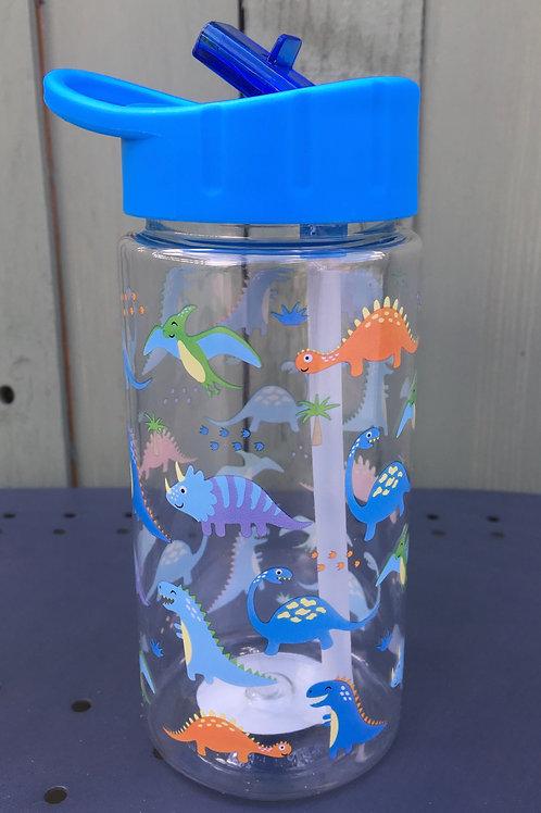 Dinosaur Water Bottle With Straw