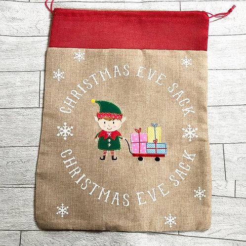Boy Elf Christmas Eve Sack