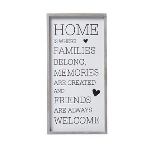 Home is Where Family Plaque