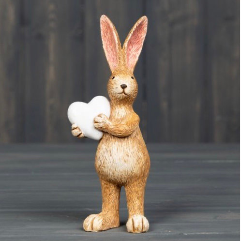 Standing Bunny with Heart