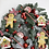 Thumbnail: Large Handmade Snowy Gingerbread Candy Cane and Sweets  Wreath