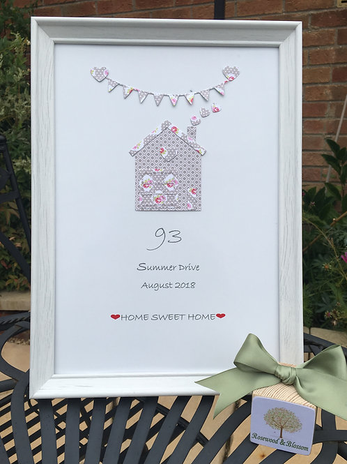 Personalised NEW HOME FRAME