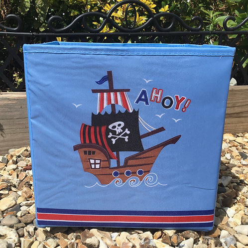 Boys Pirate Ship Storage Cube Box Small