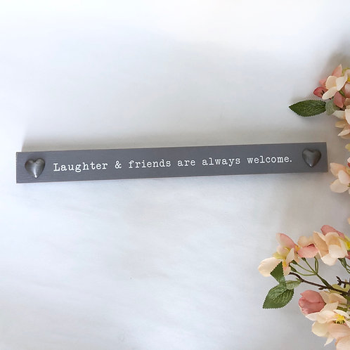 Laughter & Friends Wooden Plaque